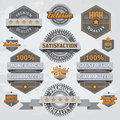 Retro badges and labels various desing elments with text on white background vector contains transparent objects Royalty Free Stock Photography