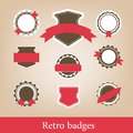 Retro badges. Vector Royalty Free Stock Photos