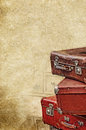 Retro bags on the old vintage textured paper background Royalty Free Stock Photo