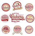 Retro bakery badges and labels illustration Royalty Free Stock Photo