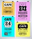 Retro bakery labels and typography coffee shop cafe menu design elements Royalty Free Stock Image