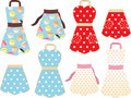 Retro baking aprons Royalty Free Stock Photography