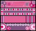 Retro Banners [Pink] Royalty Free Stock Photo