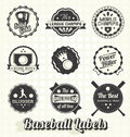 Retro baseball labels and icons collection of style league Royalty Free Stock Photo