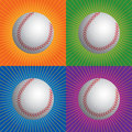 Retro baseballs Stock Photo