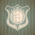 Retro basketball crest. Stock Photography