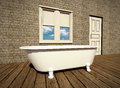 Retro bathroom Stock Images
