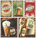 Retro Beer  Tin Signs Set