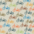 Retro bicycle pattern Stock Photos