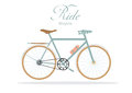 Retro bicycle on white backgrounds,Vector illustrations Royalty Free Stock Photo
