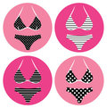 Retro bikini icons Stock Photography