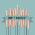 Retro Birthday Wish Stock Images