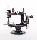 Retro black sewing machine Royalty Free Stock Photo