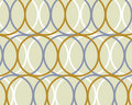 Retro Blue And Brown Circles D...