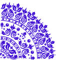 Retro blue flower pattern Royalty Free Stock Images