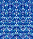 Retro blue seamless flower texture background Royalty Free Stock Photo