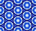 Retro Blue Seamless Vector Wallpaper Royalty Free Stock Photo