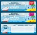 Retro boarding pass ticket. Wedding invitation template Royalty Free Stock Photo
