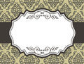 Retro border frame with damask pattern elegant bordr curly ornaments on floral background specially for make wedding or other Stock Image