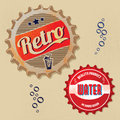 Retro bottle cap design vintage grunge style Stock Image