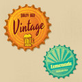Retro bottle cap design vintage grunge style Royalty Free Stock Photos