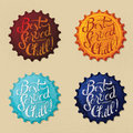 Retro bottle cap poster design vintage Stock Images