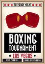 Retro boxing poster sports to announce a tournament Royalty Free Stock Image