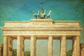 Retro Brandenburg Gate Royalty Free Stock Photography