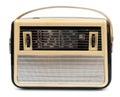 Retro bärbar radio Royaltyfri Fotografi