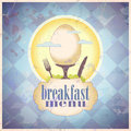 Retro breakfast menu card design. Royalty Free Stock Photo