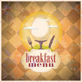 Retro breakfast menu card design. Royalty Free Stock Image