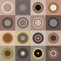 Retro brown circles Stock Photography
