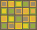 Retro brown, green, orange and yellow squares back Royalty Free Stock Photos