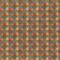 Retro Brown Red Yellow Repeat Wallpaper Pattern Royalty Free Stock Photos