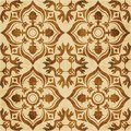 Retro brown watercolor texture grunge seamless background flower Royalty Free Stock Photo
