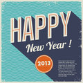 Retro buon anno 2013 dell'annata Immagine Stock Libera da Diritti