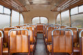 Retro bus interior of a vintage style Royalty Free Stock Images