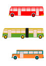 Retro bus set. Royalty Free Stock Photography