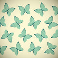 Retro butterflies background for your design Stock Photography