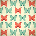 Retro butterflies background for your design Stock Images