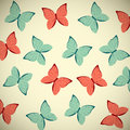 Retro butterflies background for your design Royalty Free Stock Photo