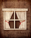 Retro Cabin Window Royalty Free Stock Photo