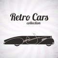 Retro cabriolet sport car vintage collection classic garage sign vector illustration background can be used for design Royalty Free Stock Photos