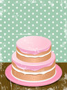 Retro cake background Stock Photography