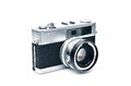 Retro camera an elegant range finder in white Stock Photography