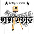Retro camera vector ancient on the background Stock Photos