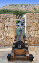 Retro cannon at Dubrovnik, Croatia Royalty Free Stock Photo