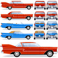 Retro Car (1950th-1960th) Royalty Free Stock Image