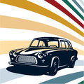 Retro car background isolated vector Royalty Free Stock Photo