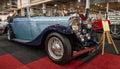 Retro car bentley litre maastricht netherlands january international exhibition interclassics Royalty Free Stock Image